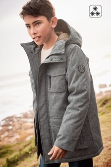 Grey  Four Pocket Jacket (3-16yrs)