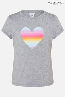 Accessorize Grey Heart T-Shirt