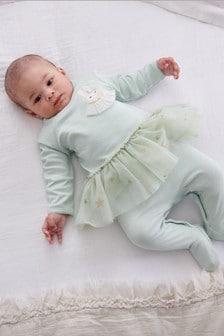 Mint Tutu Sleepsuit (0-2yrs)