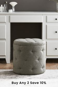 Wool Blend Grey Hartford Stool
