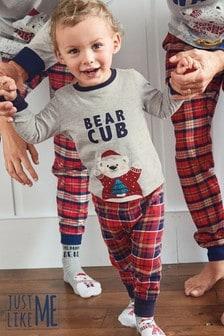 Bear Cub Kids Matching Family Check Pyjamas (3-16yrs)