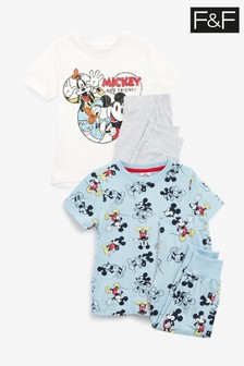 F&F Mickey Mouse™ Retro Pyjamas Two Pack
