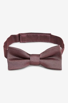 Plum Silk Bow Tie (1-16yrs)