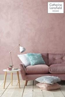 Catherine Lansfield Metallic Faux Fur Cushion