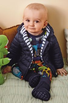 Navy Hooded Jacket (0mths-2yrs)