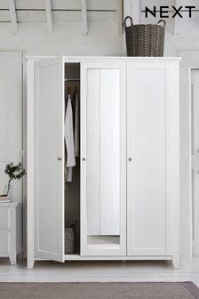 White Ashington Triple Wardrobe