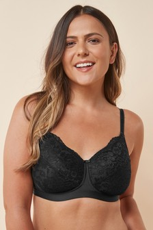 Black Lightly Padded Non Wired Post Surgery Bra