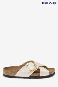 Birkenstock® White Sien Buckle Sandals