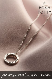 Personalised Mini Circle Necklace by Posh Totty Designs
