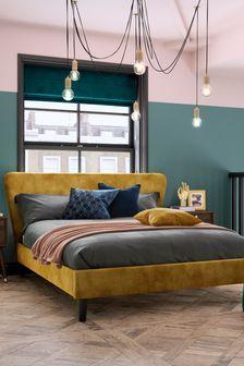 Opulent Velvet Ochre Wilson Bed