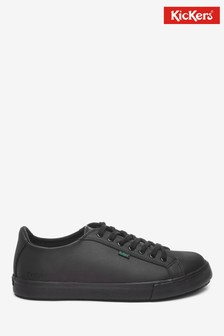 Kickers® Black Tovni Lacer Leather Shoes