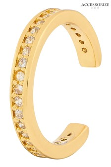 Accessorize Gold-Plated Pavé Ear Cuff