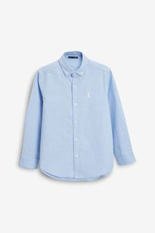 Blue Long Sleeve Oxford Shirt (3-16yrs)