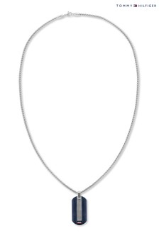 Tommy Hilfiger Stainless Steel With Blue IP Necklace