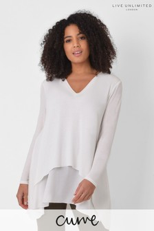 Live Unlimited Curve Ivory Double Layer Top