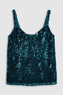 Teal  Sequin Cami