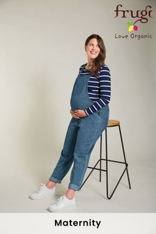 Frugi GOTS Organic Maternity To Breastfeeding Chambray Dungarees