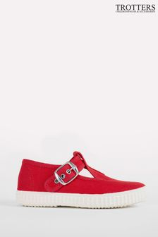 Trotters London Red Nantucket Canvas Shoes