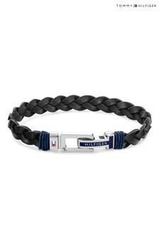 Tommy Hilfiger Black Leather Bracelet