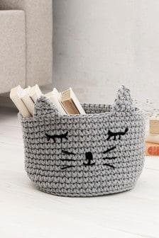 Animal Knitted Storage Basket