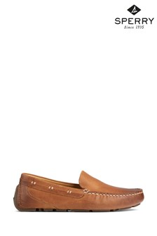 Sperry Tan Gold Cup Harpswell Driver Loafers