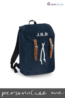Personalised Navy Rucksack by Loveabode