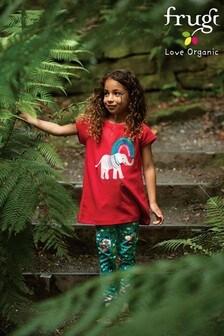 Frugi Red Elephant Organic Cotton T-Shirt
