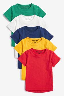 Multi 5 Pack T-Shirts (3mths-7yrs)