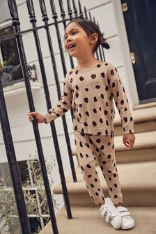 Animal Print Knitted Co-ord Set (3mths-7yrs)