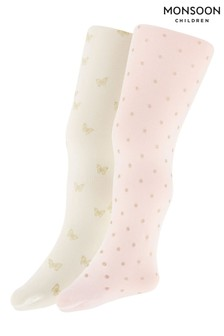Monsoon Multi Baby Glitter Tights Set