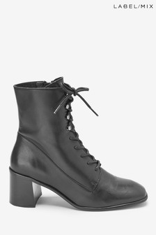 Mix/E8 Lace-Up Boots