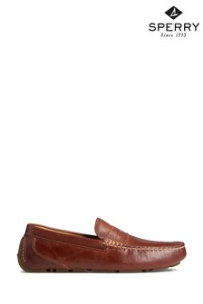 Sperry Tan Gold Cup Harpswell Penny Loafers
