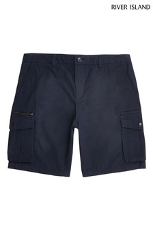 River Island Navy Cargo Shorts