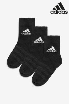 adidas Kids Black Crew Socks Three Pack