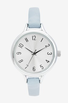 Light Blue Simple Strap Watch