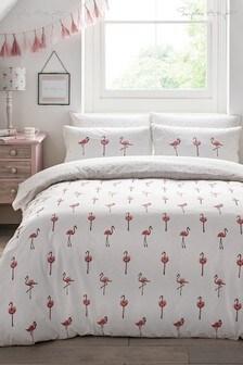 Sophie Allport Flamingos Duvet Cover and Pillowcase Set