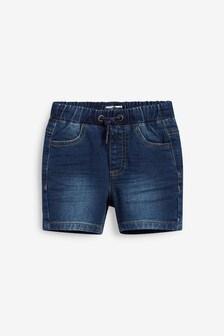 Mid Blue Jersey Denim Shorts (3mths-7yrs)