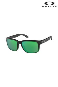 Oakley® Black/Green Holbrook Sunglasses