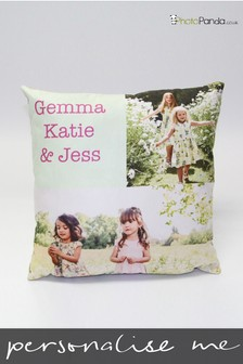 Personalised 18x18'' Faux Suede Photo Cushion by Photo Panda