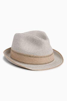 Rose Gold Trilby Hat