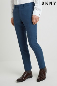 DKNY Slim Fit Summer Blue Texture Trousers