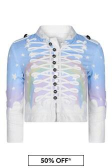 Girls Blue Magic Rainbow Denim Jacket