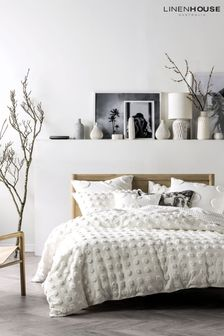 Haze White Bedset by Linen House