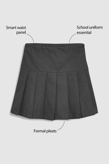 Grey Pleat Skirt (3-16yrs)