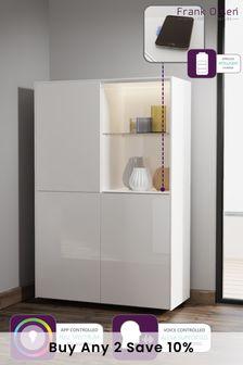 Frank Olsen Smart LED White Display Cabinet