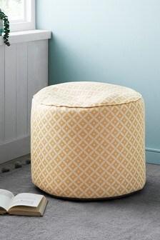 Dawson Woven Geo Fabric Pouffe