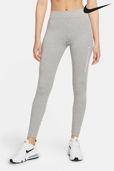 Nike Grey Swoosh High Waisted Leggings
