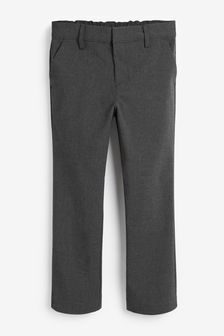 Grey Regular Waist Formal Stretch Skinny Trousers (3-17yrs)