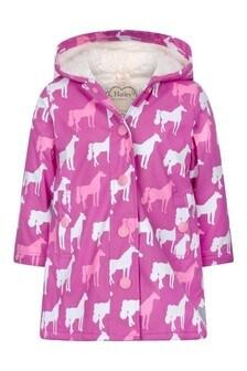 معطف مطر فوشيا بناتي