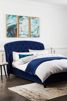 Opulent Velvet Navy Molly Bed